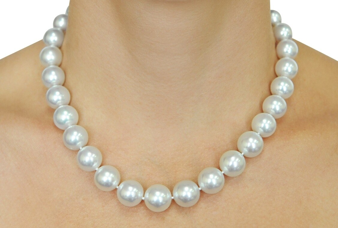 11-12 natural south sea white round pearl bracelet Gold plating Details about  /Gorgeous AAAA